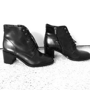 Sam Edelman lace up block heel booties